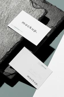 Mock-up business card arrangement
