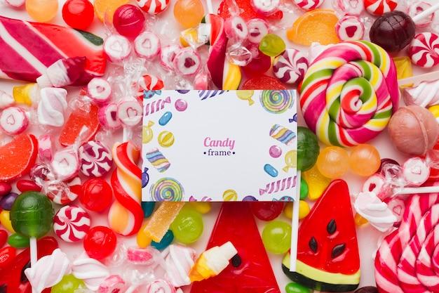 Mock-up candies frame