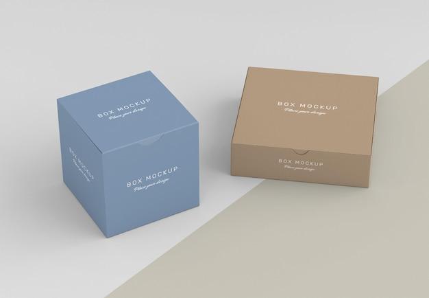 Mock-up for cardboard box storage