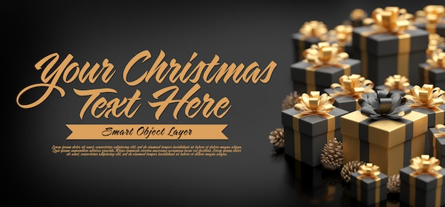 Mock up of a christmas banner