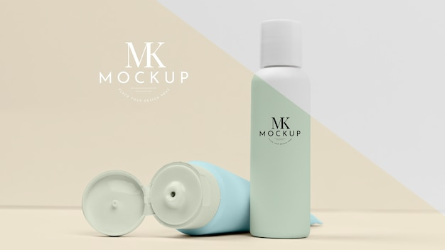 Mock-up for cosmetic products bottles