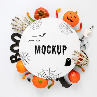Mock-up design concetto di halloween