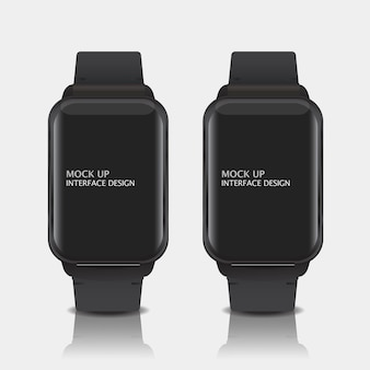 Mock up digital display interface design for smart watch