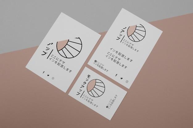 문서에 대한 아시아 비즈니스 회사의 모형