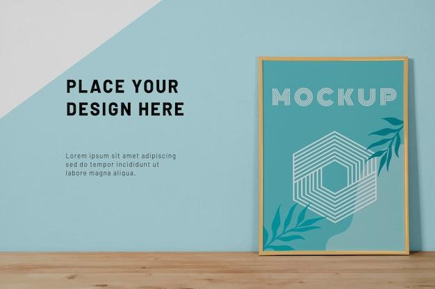 Mock up frame sulla scrivania