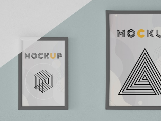 Mock up frame on wall