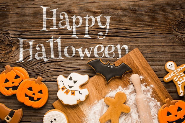 Mock-up happy halloween specific treats