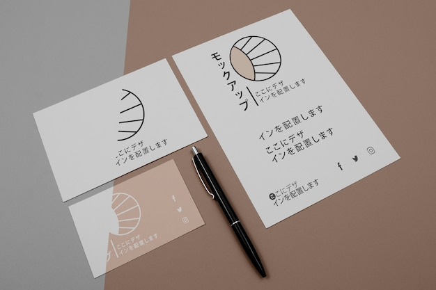 Mock-up for japanese business company on documents