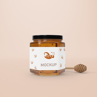 Mock-up jar with honey