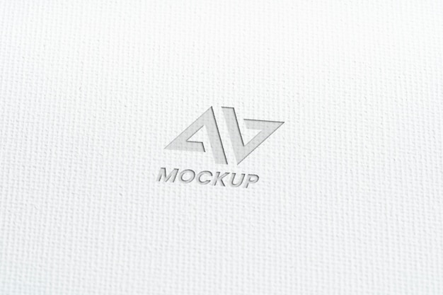 Mock-up logo design business close-up