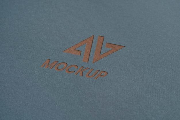 모형 로고 디자인 비즈니스 클로즈업