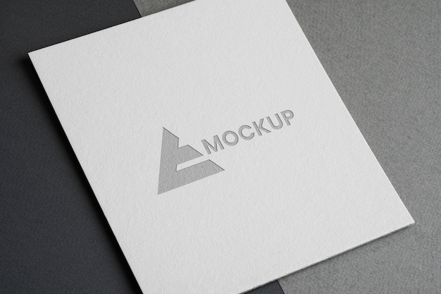 Design del logo mock-up per aziende commerciali