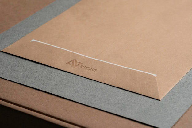 Mock-up logo design business on envelopes