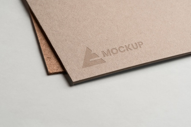 Mock-up logo design business on envelopes