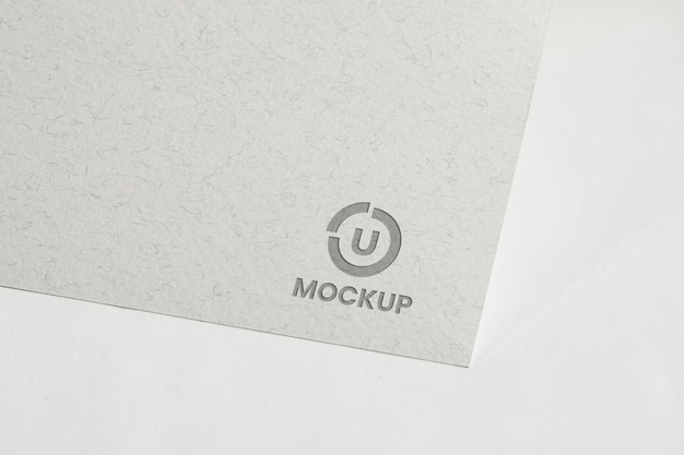Mock-up logo design for business high view