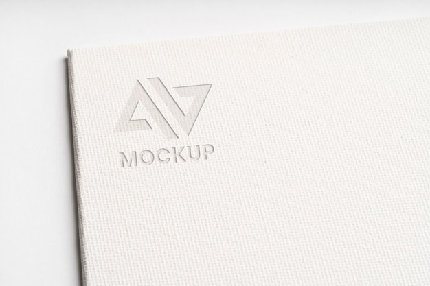 Mock-up logo design business on white paper