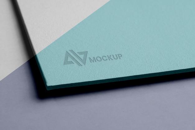 企業向けのモックアップロゴデザイン