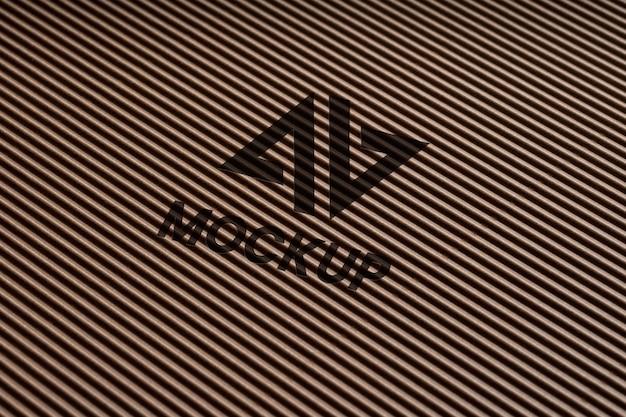 名刺のモックアップロゴデザイン