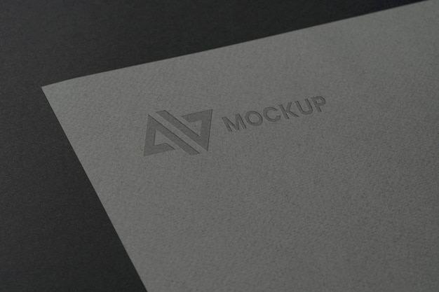 文房具アクセサリーのモックアップロゴデザイン