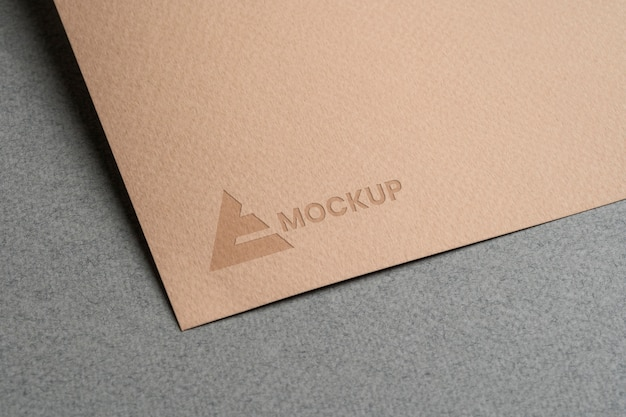 Mock-up logo design on stationery accessories