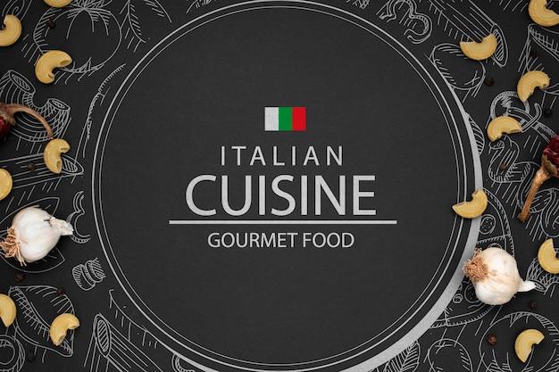 이탈리안 레스토랑의 모형 로고