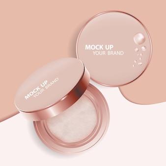 Mock up makeup cushion powder template