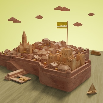 Mock-up miniature model of cities