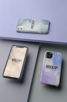 モックアップ携帯電話ケース配置
