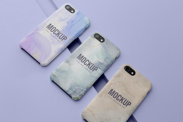 Набор макетов чехлов для мобильных телефонов