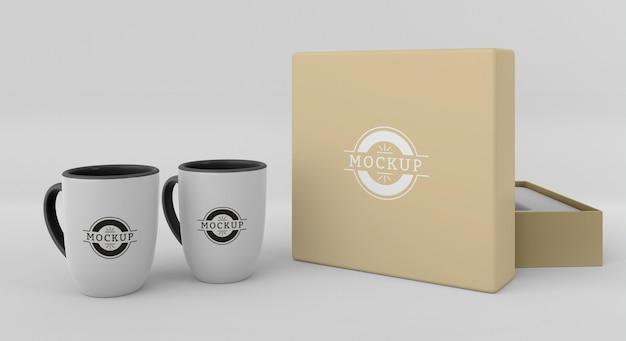 Mock-up mug box assortment