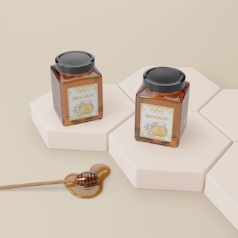 Mock-up natural honey product
