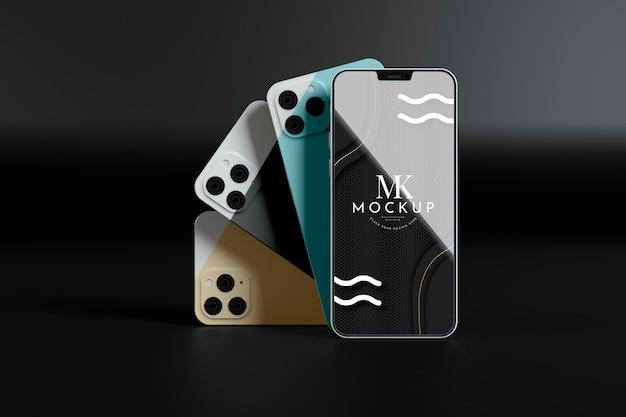 モックアップの新しい電話コレクション