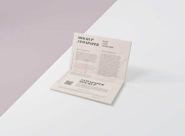 Mock-up for newspaper