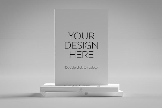 Макет белой книги - 3d-рендеринг Premium Psd