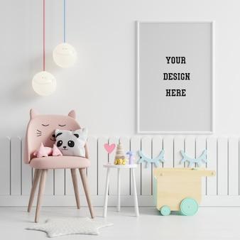 어린이 방에서 포스터 프레임 모의