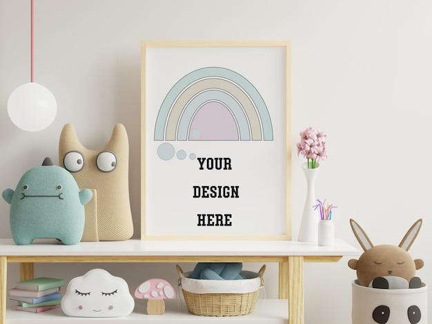 子供部屋のポスターフレームをモックアップ