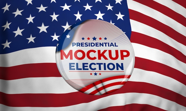 Mock-up presidential election insignia for united states