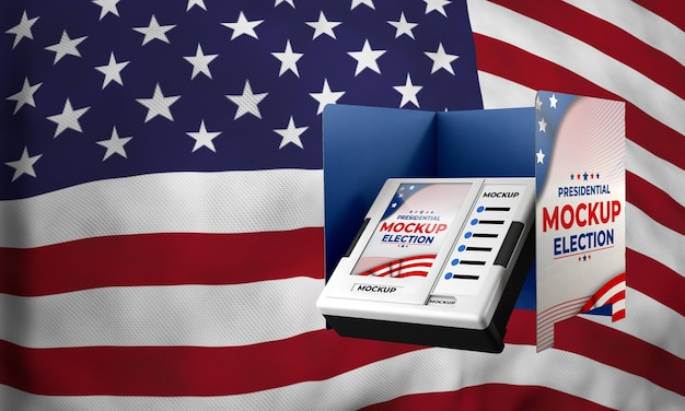 Mock-up presidential election voting booth for united states