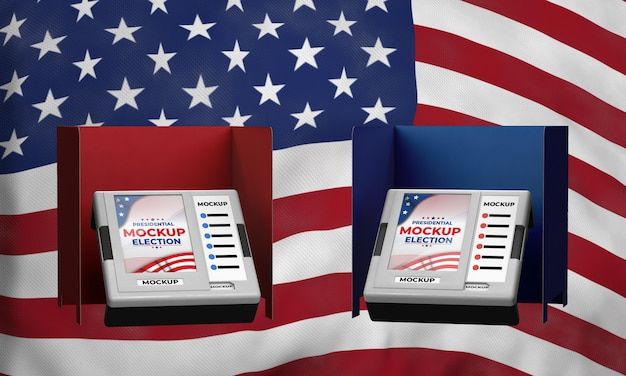 Mock-up presidential election voting booths for united states