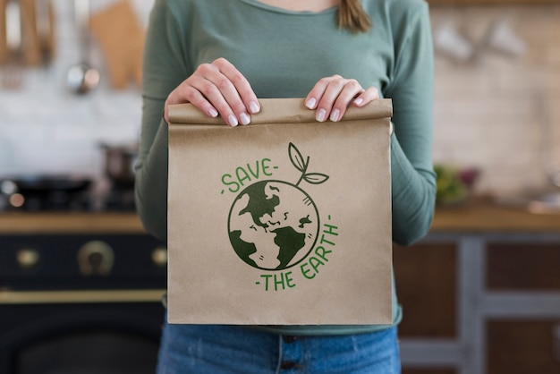 Mock-up reusable bag