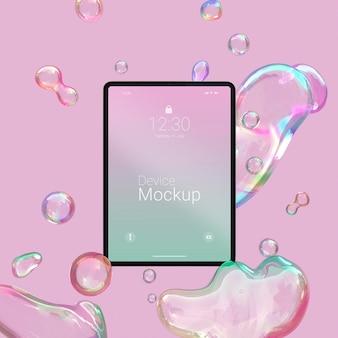 액체 동적 요소를 사용한 모형 태블릿 구성