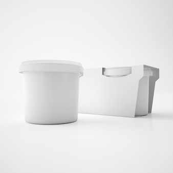 Mock up template plastic tub bucket container