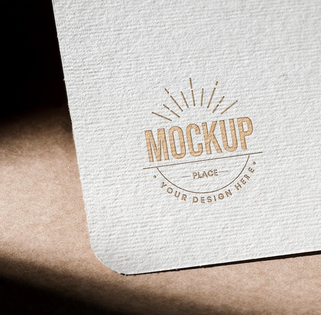 Mock-up textured paper card for business