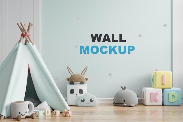 Макет стены в детской комнате 3d рендеринга