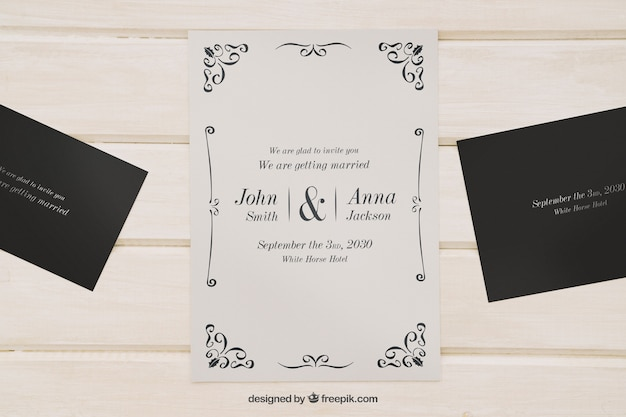 Mock up for wedding invitations