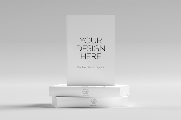 Mock up of a white book - 3d rendering