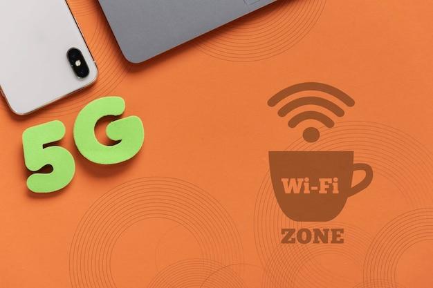 Макет wi-fi соединение для устройств Бесплатные Psd
