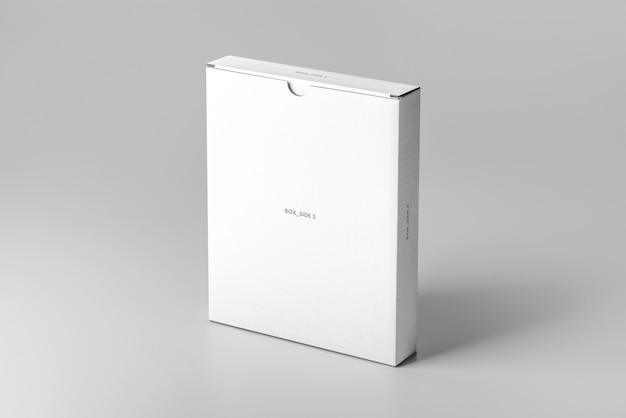 Плоская картонная коробка mock up