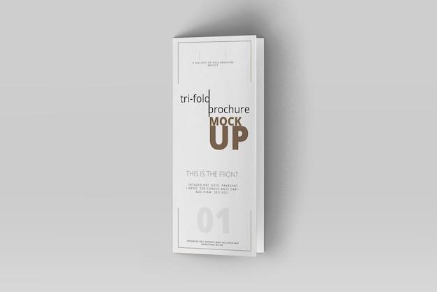 Трехкратная брошюра mock-up