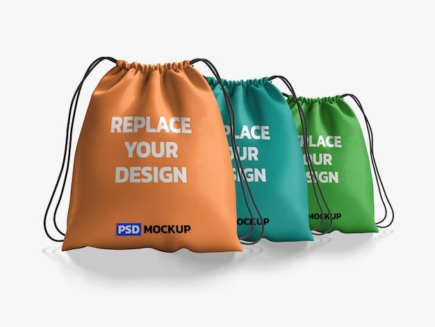 Полосатая сумка mockup 3d rendering design